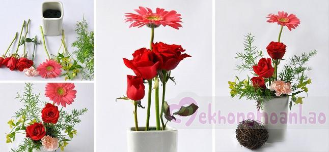 Bí quyết để có một lọ hoa để bàn xinh xắn