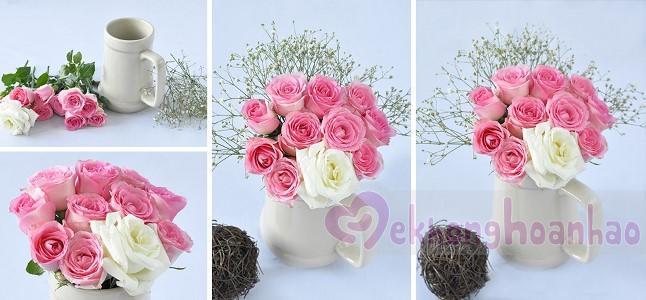 Cách cắm hoa hồng đơn giản, siêu dễ thương