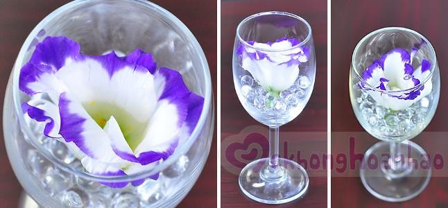 Bí quyết cắm hoa cát tường trong ly rượu vang thật đơn giản, lãng mạn