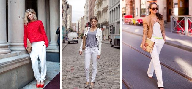 Cách mix đồ với quần trắng sành điệu cho bạn gái