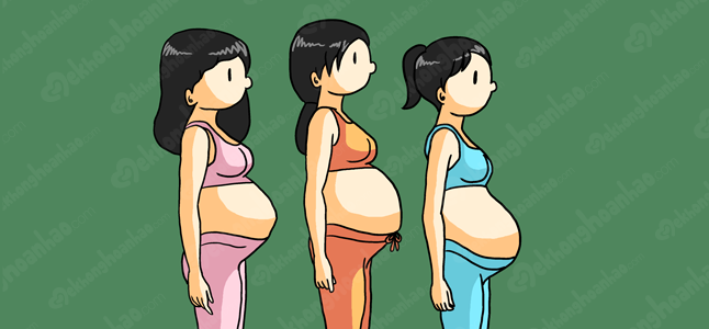 Tiết lộ sự thay đổi của bụng mẹ khi mang thai tháng thứ 8