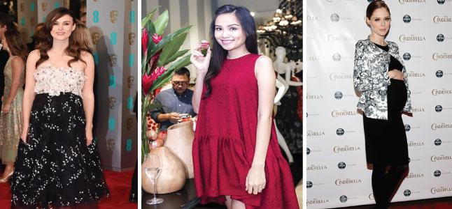 Thời trang đầm bầu của sao Việt lẫn sao ngoại