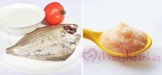 Cách nấu cháo cá cho bé ăn dặm cùng cà chua
