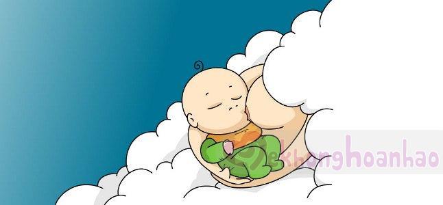 Em bé ngủ gật khi đang bú mẹ là chuyện bình thường