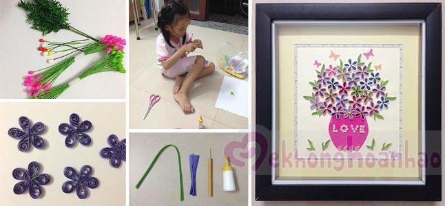 Cách làm tranh giấy cuộn đơn giản