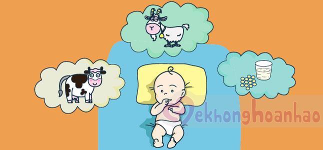 Phân loại sữa công thức cho trẻ sơ sinh