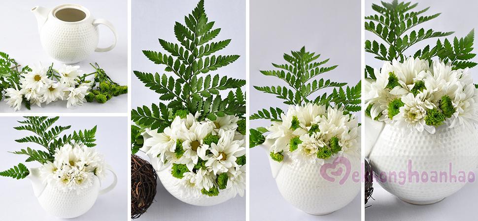 Bật mí cách cắm hoa cúc cực đẹp nhưng vô cùng đơn giản