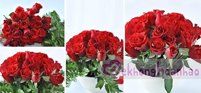 Mách bạn cách cắm hoa hồng đỏ đẹp rực rỡ nhưng cực kỳ đơn giản