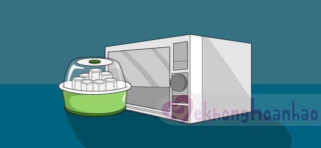 Cách tiệt trùng bình sữa và vật dụng của bé