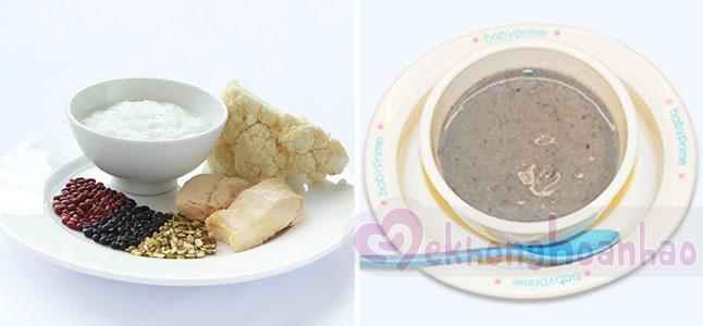 Cách nấu bột cho trẻ ăn dặm từ thịt gà, súp lơ và các loại đậu