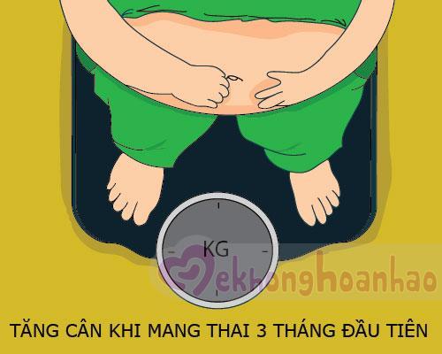 Xoay quanh vấn đề cân nặng của mẹ khi mang thai 3 tháng đầu
