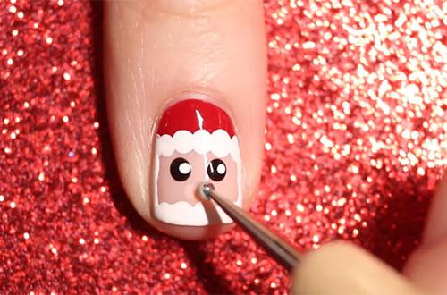 Tự vẽ móng tay Giáng sinh ông già Noel siêu cute