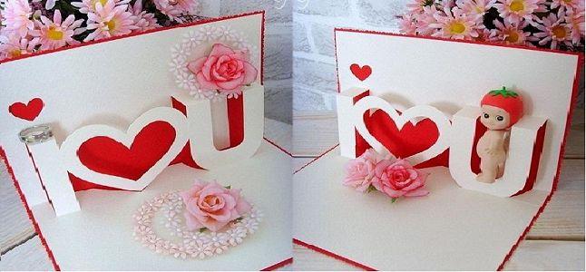 Cách làm thiệp Valentine 3D tặng người ấy cực yêu