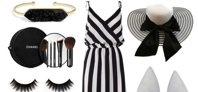 Tinh tế và gợi cảm với trang phục gam màu đen trắng