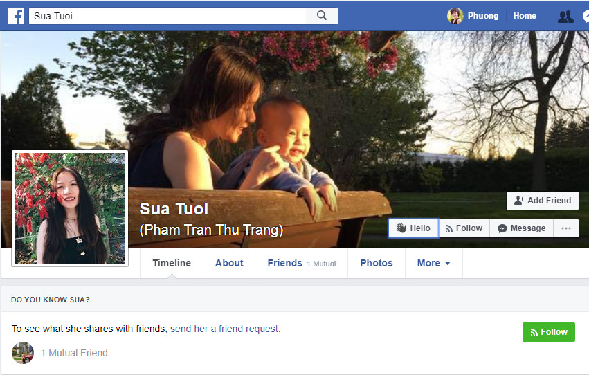Facebook của Blogger Sua Tuoi đang học Y khoa ở Canana hình 5