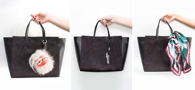 Trang trí túi xách đen – Đánh bay sự nhàm chán