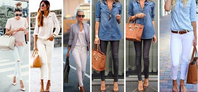 Cách phối đồ đẹp với quần trắng