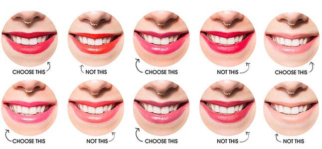 Bật mí những cách chọn màu son giúp răng trắng sáng hơn
