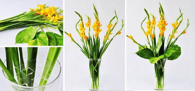 Hướng dẫn cắm hoa lay ơn ngày Tết đơn giản và đẹp