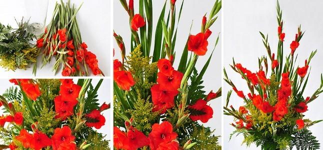 Cách cắm hoa lay ơn ngày Tết đón Tài Lộc vào nhà